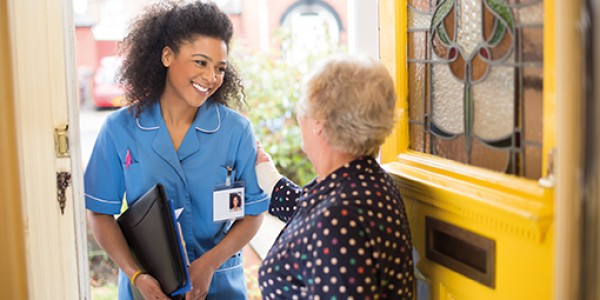 Carer at the door iStock 000064330709