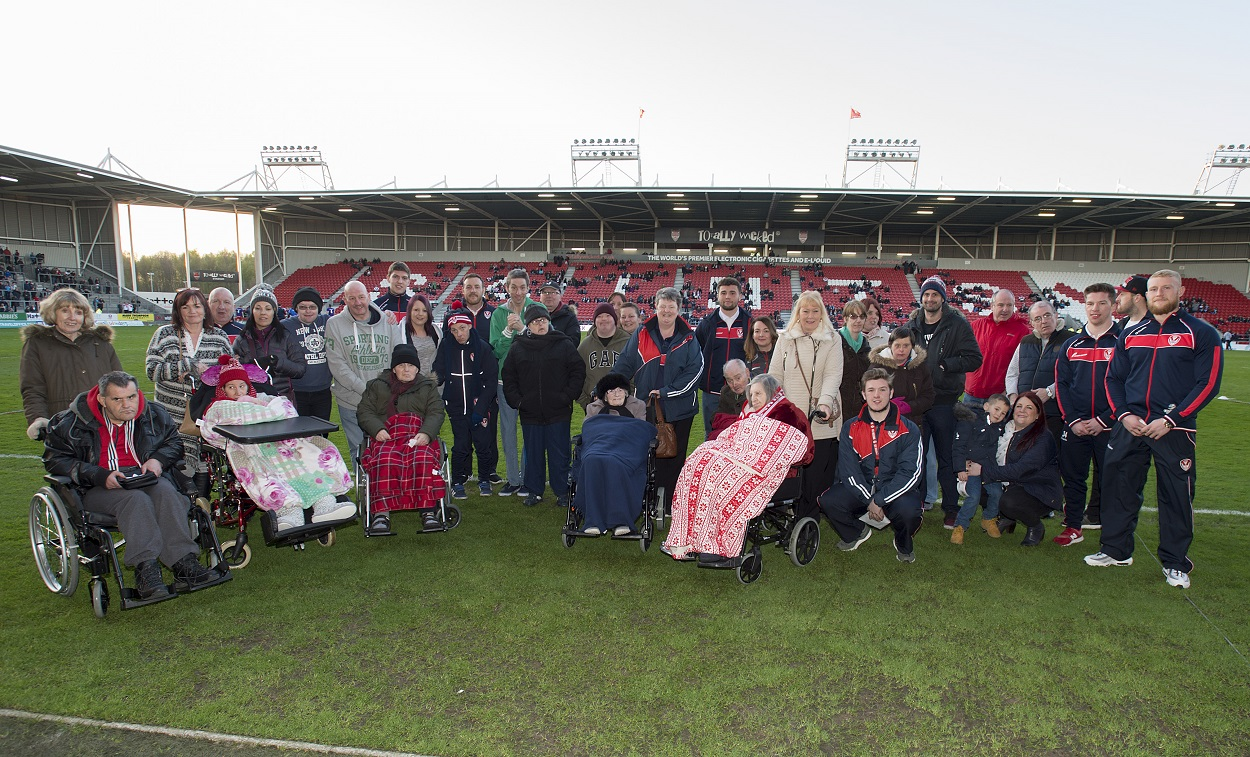 Social Care Charity Are Guests of Honour at Saints Game