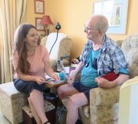 Siobhan Gournay Care Manager live-in care service with customer Gus Pellett