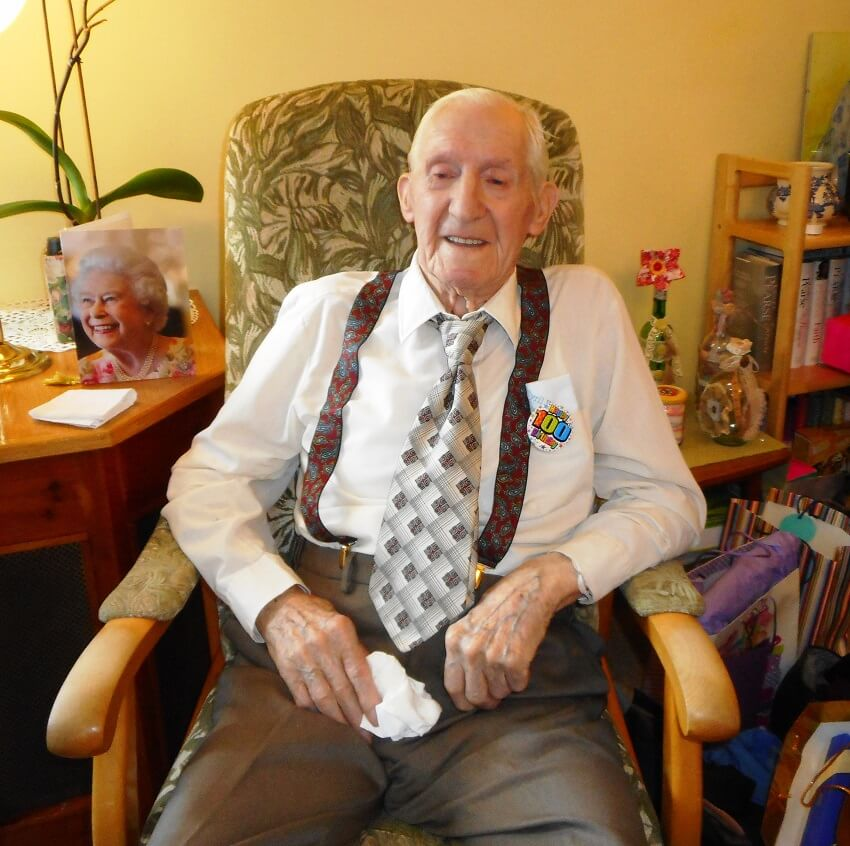 A Resident At Park House Care Home In Peterborough Has Celebrated His 100th Birthday And Ten Decades Of Living The City With Special Party Held