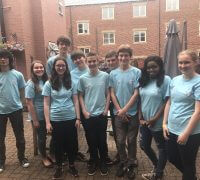 NCS teens participating in social action project