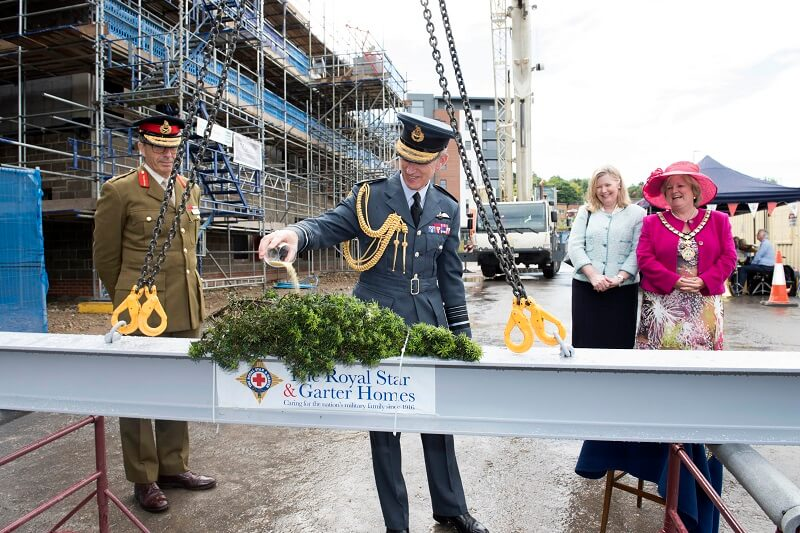 RSGH Topping Out ceremony at new home for disabled veterans