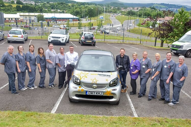 The team and managing director of Seren Support Services