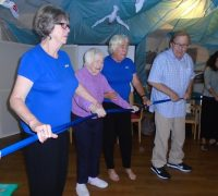 residents taking part ion the exciting production courtesy of Moving Memory Dance Theatre