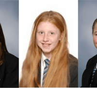 3 of the young heroes: faye Barry, mary Graham and Paige Teague