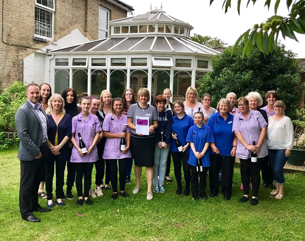 The Beeches staff - recognised for outstanding care