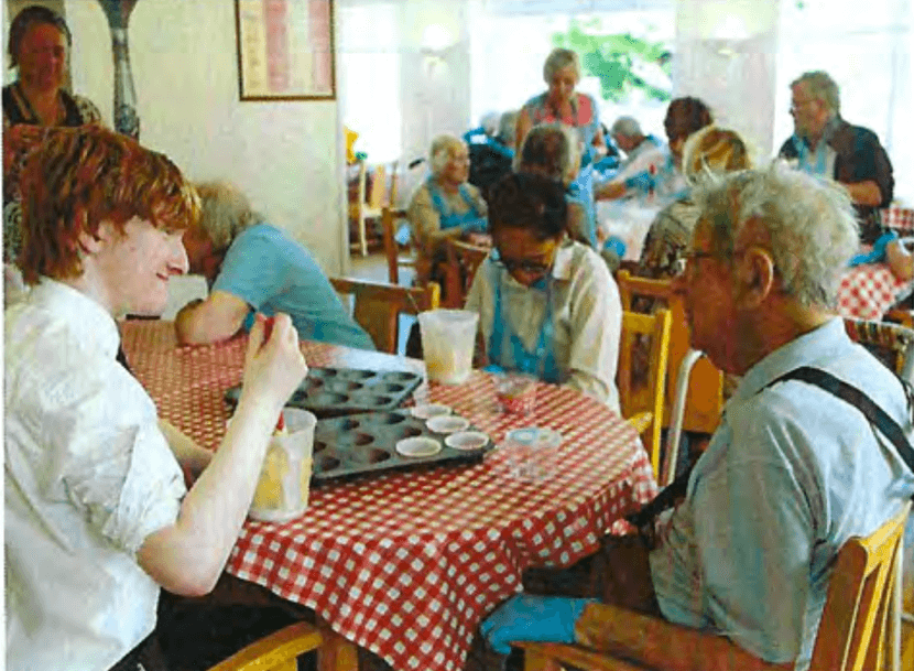 clifden house residents and local school goers share in activities