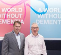 raising dementia awareness: Paul Hogan founder of Home Instead Senior Care, right Jeremy Hughes, CEO of Alzheimer's Society in the UK.