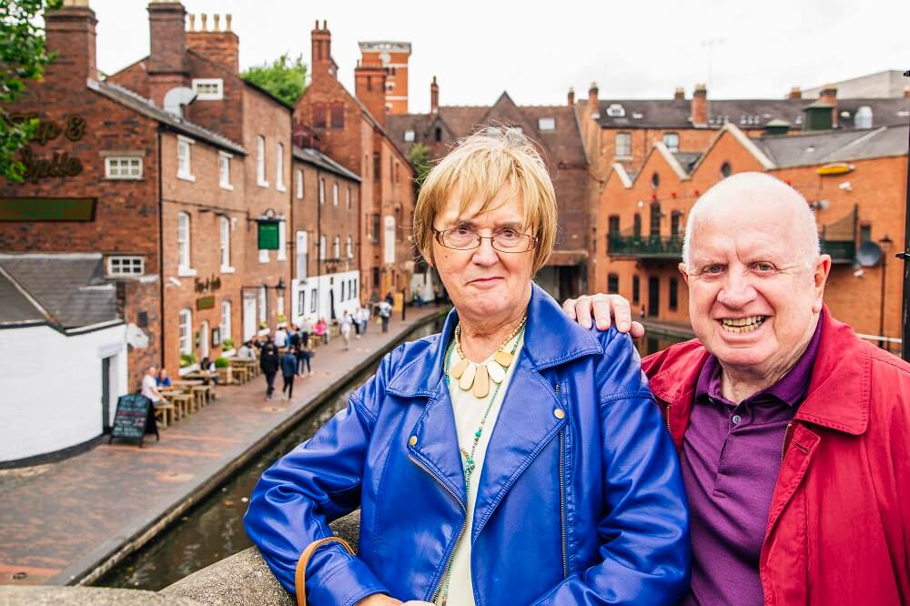 Helping end loneliness in Birmingham Jeraldene Dew and Marc Ryder a participant in Ageing Better groups