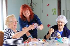 guests enjoying activities at the RAF charity home