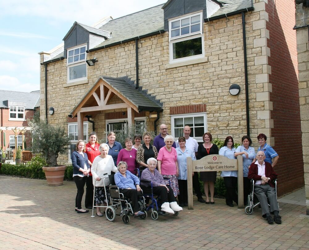 rose lodge care home staff and residents