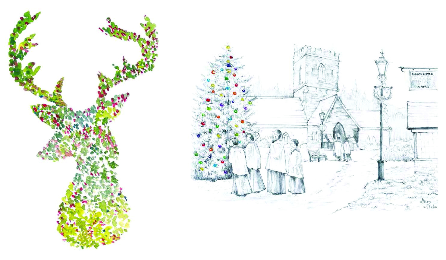 westlake house care home in horsham and white lodge care home in swindon have won the annual barchester healthcare christmas card competition 2013 with two