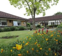 Ashl;ynn Grange Care Home exterior and gardens