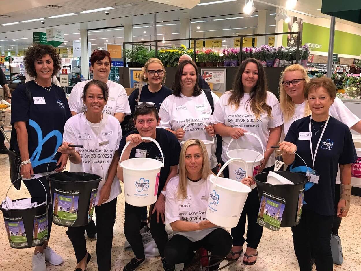 Hill Cares charity bag pack Morrisons St Helens