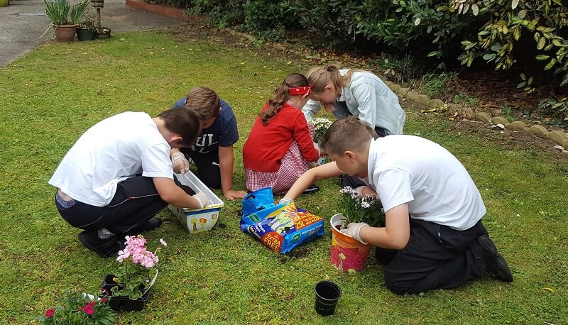 Rotherham Care Home Garden Gets Makeover From Pupils