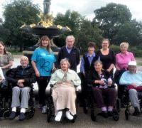 The Gables care home memory walk
