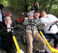 michelle and residents-big bike ride