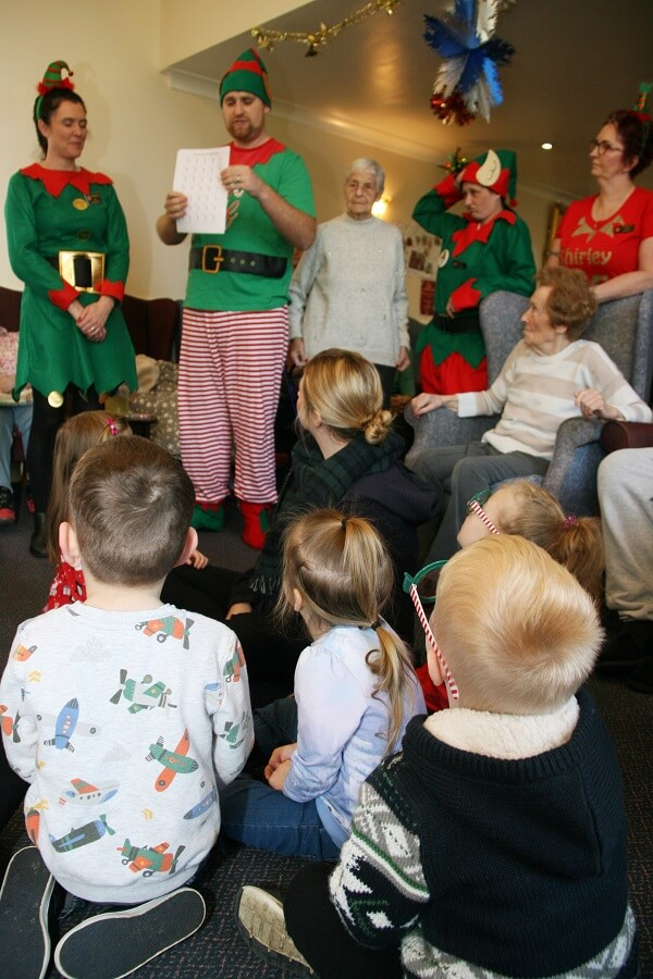 Children, nursery and wisbech care home residents enjoying activities