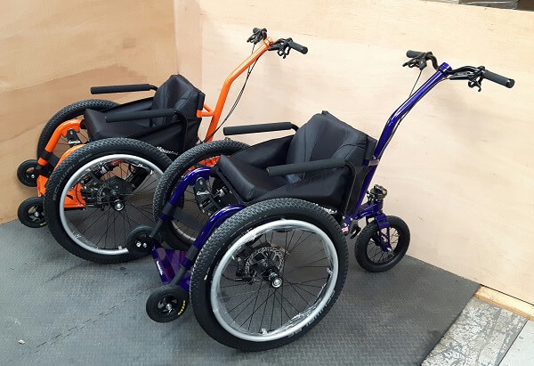 2 MT Push wheelchairs purchased through staceys legacy