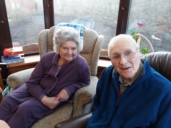 Betty and Jim who'll celebrate their 62nd Valentine's Day this year