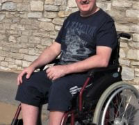 Paul Griffiths who went on an alternative respite holiday with his wife