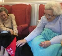 Ingleby residents meet Betty as part of their animal therapy sessions