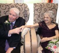 Bill and Marg celebrating their anniversary at Lavender Hills Care Home