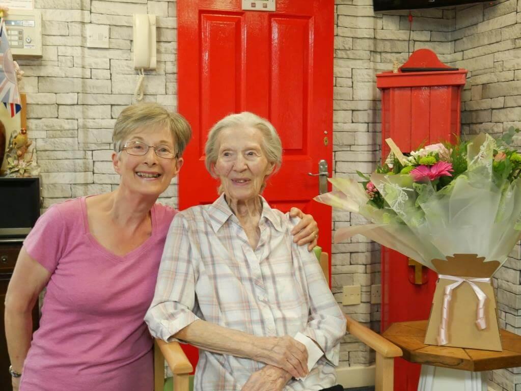 Dora Banfield celebrating her 104th Birthday