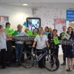 Celebrations as Wendy completes London to Paris cycle