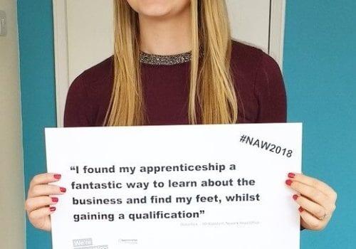National Apprenticeship Week Olivia Rick HR Assistant