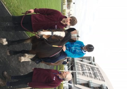 Special Olympian Arvon at Aintree