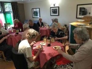 Ashworth Grange residents enjoy dining at the pop-up Italian restaurant