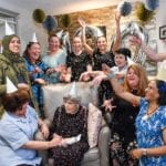Audrey celebrating her 100th birthday with the team at The Grand