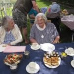Canterbury Care Home Residents Take Afternoon Tea Alfresco