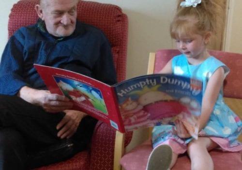 Barnfield Care Home read a book day