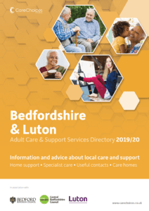 Bedfordshire and Luton Care Directory 2019/20 front cover