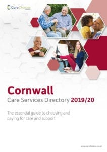 Cornwall Care Services Directory front cover 2019/20