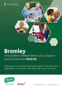 Bromley care guide front cover 2019/20