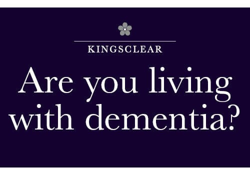 Kingsclear Dementia awareness event - are you living with dementia