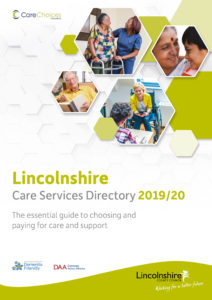 Lincolnshire care services directory front cover 2019/20