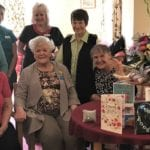 Marie Toombs, care home volunteer and the gables team