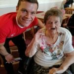 Sister Mary and Jonny at Ingleby Care Home