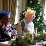 Bupa residents enjoying a christmas meal
