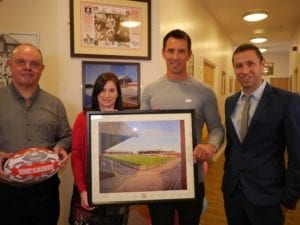 Paul and Eddie present gifts to Community Integrated Care-1