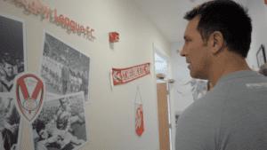 Paul looks at the Saints room - Copy