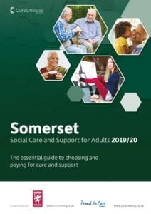 Somerset Social Care and Support for adults 2019/20 front cover