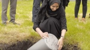Student buries her time capsule at EachStep Blackburn