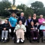 The Gables care home memory walk