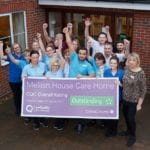 Mellish House staff celebrate their CQC rating outside Mellish house care home