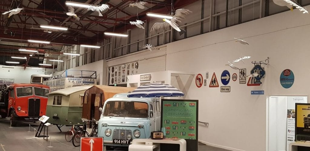 Installation at Coventry Transport museum